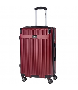 "Oxford Collection 24"" Expandable Upright Luggage – Burgundy"