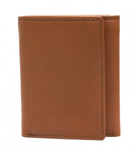 Men's RFID Secure Trifold Wing Wallet - COGNAC