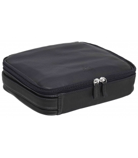Large Zippered Toiletry Bag - BLACK