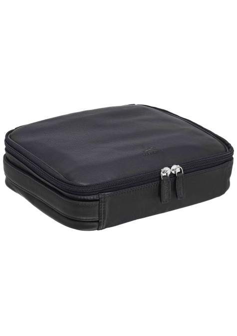 Large Zippered Toiletry Bag - BLACK - Image 1