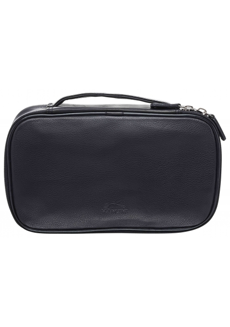 Medium Zippered Toiletry Bag - BLACK - Image 1