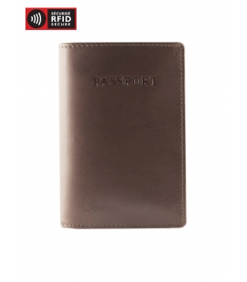 RFID Secure Passport Holder - BROWN