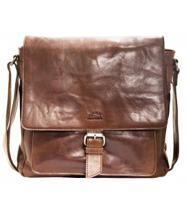 Cross Body Bag with RFID Secure Pocket - Brown