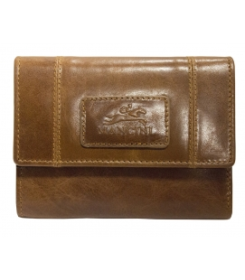Ladies' RFID Secure Small Clutch Wallet - Cognac
