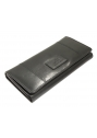 Ladies' RFID Secure Trifold Wallet - Black - Image 5