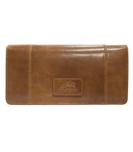 Ladies' RFID Secure Trifold Wallet - Cognac