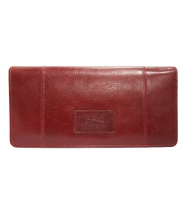 Ladies' RFID Secure Trifold Wallet - Red