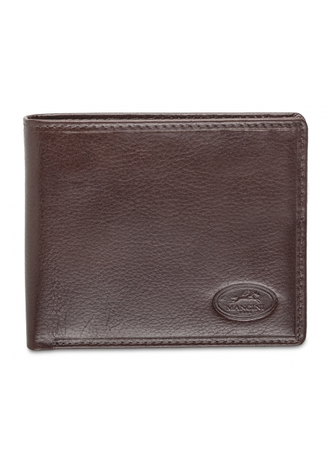 Men's RFID Secure Center Wing Wallet with Coin Pocket - Brown - Image 1
