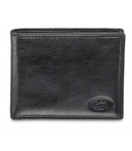 Men`s RFID Secure Billfold with Removable Passcase - Black