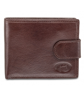 Deluxe Men's RFID Secure Wallet with Coin Pocket - Brown
