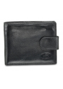 Deluxe Men's RFID Secure Wallet with Coin Pocket - Black - Image 1