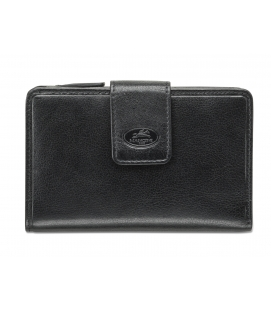 Ladies' RFID Secure Medium Clutch Wallet - Black