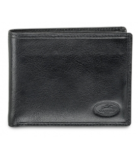 Men`s RFID Secure Wallet with Removable Passcase and Coin Pocket - Black