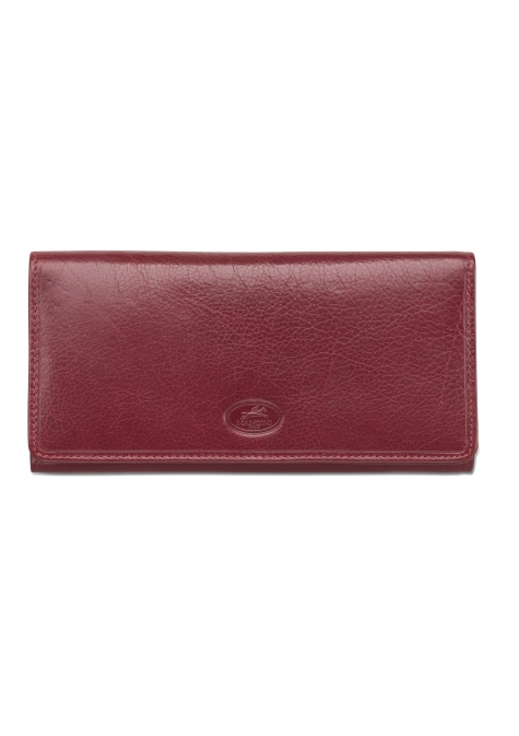 Ladies' RFID Secure Trifold Wallet - Red - Image 1