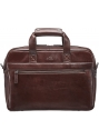 Laptop / Tablet Compatible Single Compartment Briefcase with RFID Secure Pocket - Brown - Image 1