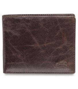 Men's RFID Secure Left Wing Wallet - Dark Brown