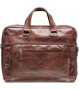 Single Compartment 15.6'' Laptop / Tablet Briefcase - Brown