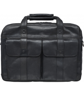 Double Compartment Briefcase for 15.6'' Laptop / Tablet - Black