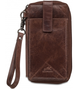 RFID Secure Cell Phone Wallet - Brown