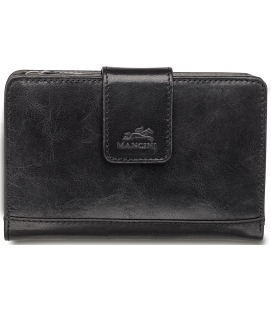 Ladies' RFID Secure Medium Clutch Wallet – Black