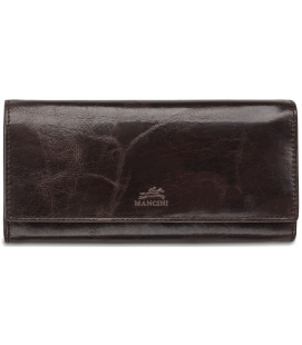 Ladies' RFID Secure Trifold Wallet – Dark Brown