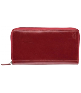 RFID Secure Deluxe Passport / Travel Organizer - Red