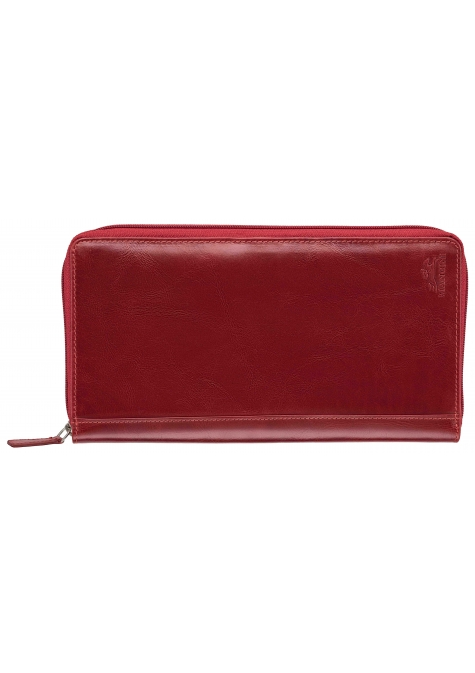 RFID Secure Deluxe Passport / Travel Organizer - Red - Image 1